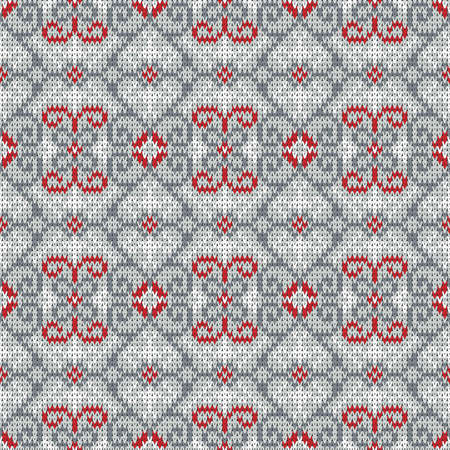 knitted seamless vector pattern, Christmas  winter background Illustration