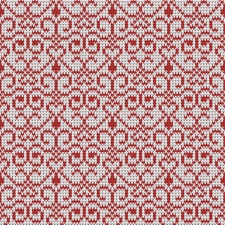 knitted seamless openwork pattern, universal winter background Illustration