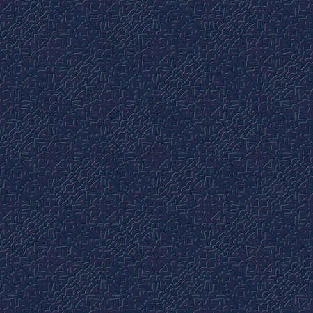 dunkles nahtloses Vektormuster mit geprägtem Ornament Vektorgrafik