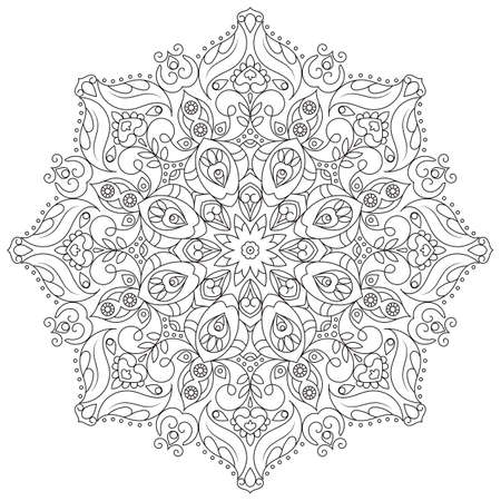 Vector mandala for coloring book