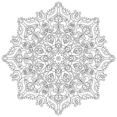 Mandala de vector para colorear libro Ilustración de vector
