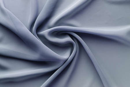 gray fabric with large folds, abstract background