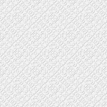 abstract white seamless vector pattern,  embossed  background