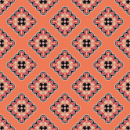 bright colorful seamless pattern with alternating rhombuses Foto de archivo - 113671291