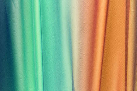 drapery of colored fabric with large folds for background