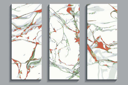 set of colorful cards, modern marble backgrounds for design