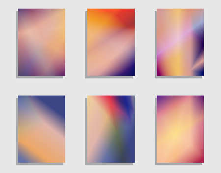 set of colorful card, banner for business design Иллюстрация