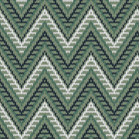 knitted seamless sweater pattern in shades of green 写真素材 - 130026998