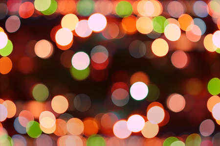 de focused abstract background of colored  christmas holiday  lights