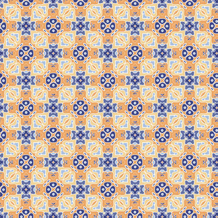 Seamless vector pattern with  abstract ornament for textiles, wallpapers, clothes, covers Illusztráció