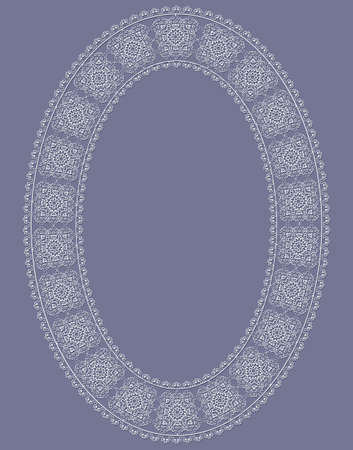 delicate vector ovate vintage frame  Illusztráció
