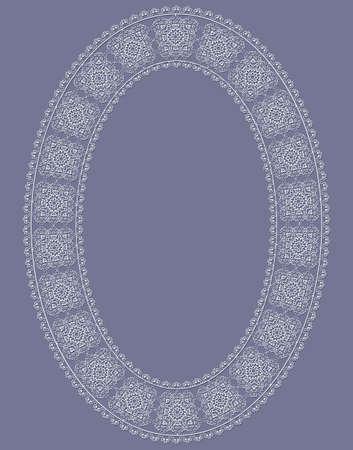 delicate vector ovate vintage frame  Illustration