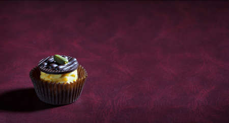 handmade chocolate candies on a dark background with place for text Stock fotó
