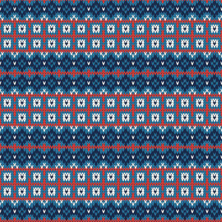 Knitted seamless multicolored pattern with horizontal stripes