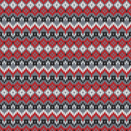 Knitted seamless pattern with horizontal stripes
