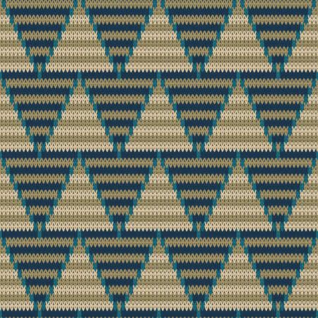 Knitted seamless chevron pattern, color textile Illusztráció