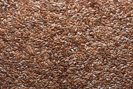 flax seeds as food background, macro