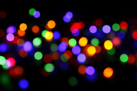 abstract background with colored lights bokeh