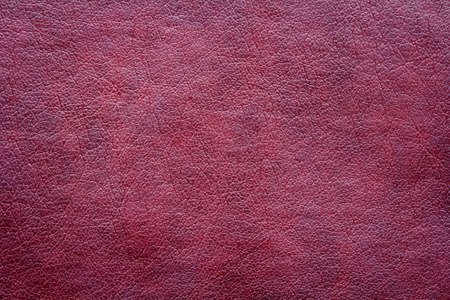 Red leather texture close up