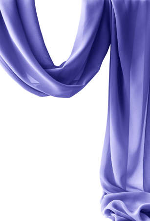 Purple transparent fabric isolated on white 免版税图像