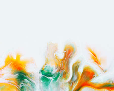 poster wiht abstract pattern of a mix color paints 免版税图像 - 146611049