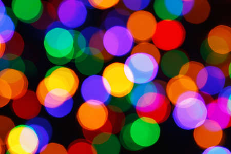 colorful christmas bokeh lights, blur background
