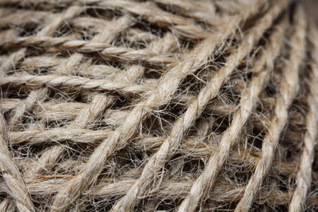 rope twine macro texture for background 免版税图像 - 145710745