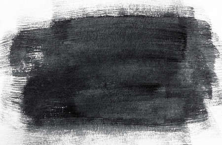 spot of strokes of black paint on a white background 免版税图像