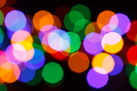 colorful christmas bokeh lights, blur background