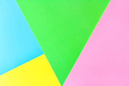 geometric flat lay pastel composition of bright colored paper 免版税图像