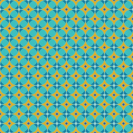 motley seamless geometric pattern with a grid of rhombuses 矢量图像