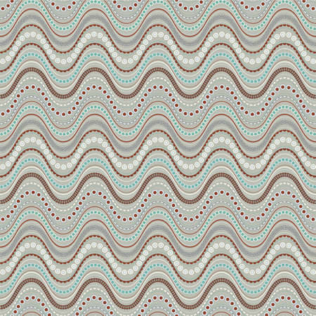 Seamless vector pattern with horizontal wavy stripes