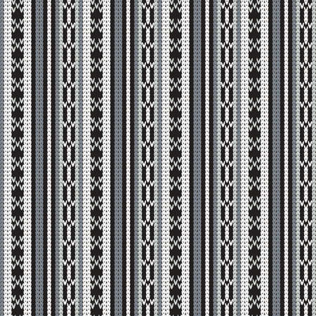 knitted seamless monochrome pattern with vertical stripes