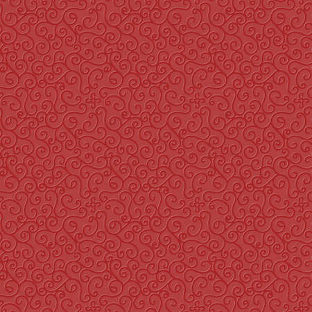 bright red seamless vector pattern with an embossed spiral texture