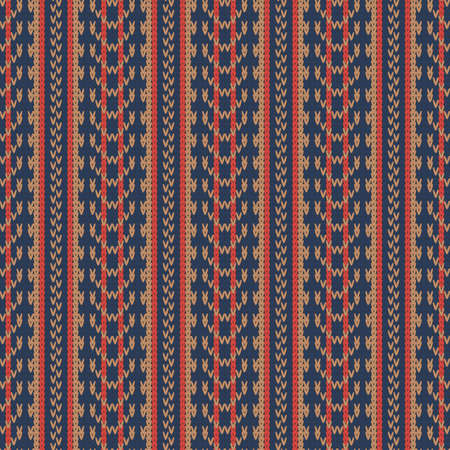 knitted seamless multicolored pattern with vertical stripes 矢量图像