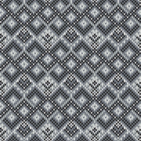 knitted winter seamless pattern with small geometric elements