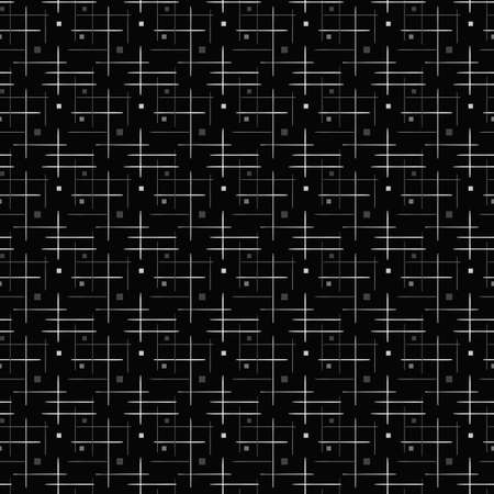 monochrome geometric abstract seamless vector pattern 矢量图像