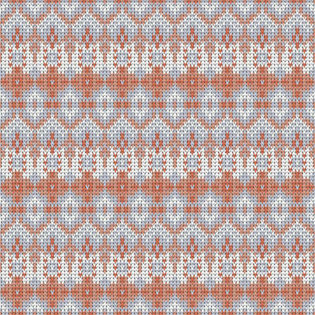 seamless knitted delicate pattern with small decorative elements