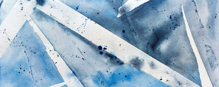 watercolor blue gray background with stripes and blots