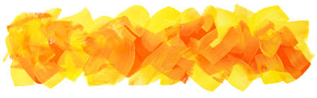 long banner with bright yellow orange brush strokes