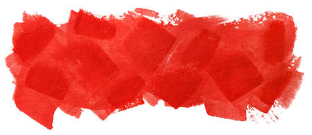 banner with bright red brush strokes isolated on white background Stock fotó