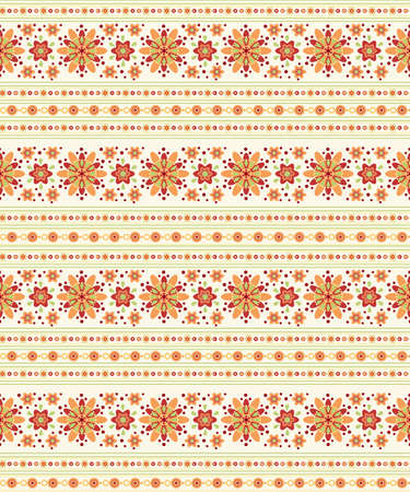 light striped seamless pattern with floral ornament