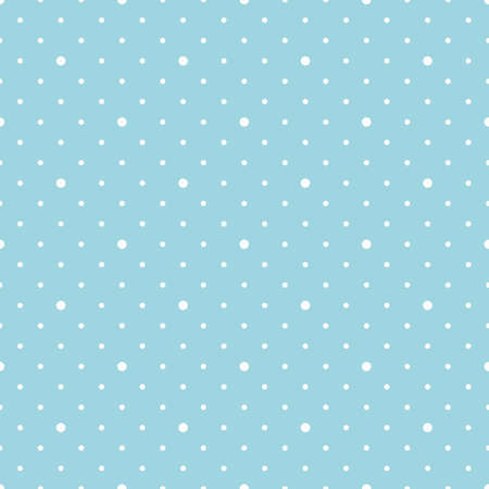 simple seamless pattern with repeat polka dot on light blue