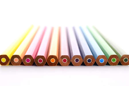 color pencil on white background Stock Photo - 11102330