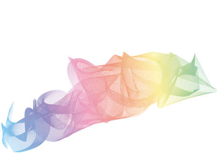 rainbow background: Abstract vector background design. Colorful Rainbow in white background
