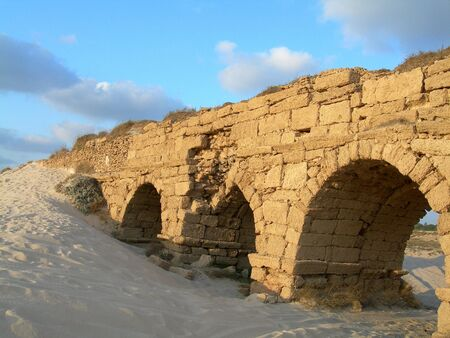 Aqueduct, Or-Akiva, Israel 스톡 콘텐츠