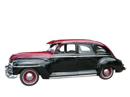 画像をトリミングして、古い古典的な車