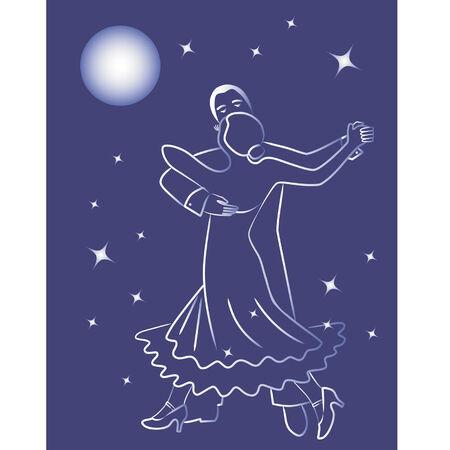 Night dance Ilustração