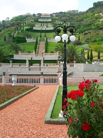 haifa: Bahai Garden, Haifa, Israel              Stock Photo