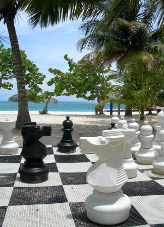 Chess on a beach